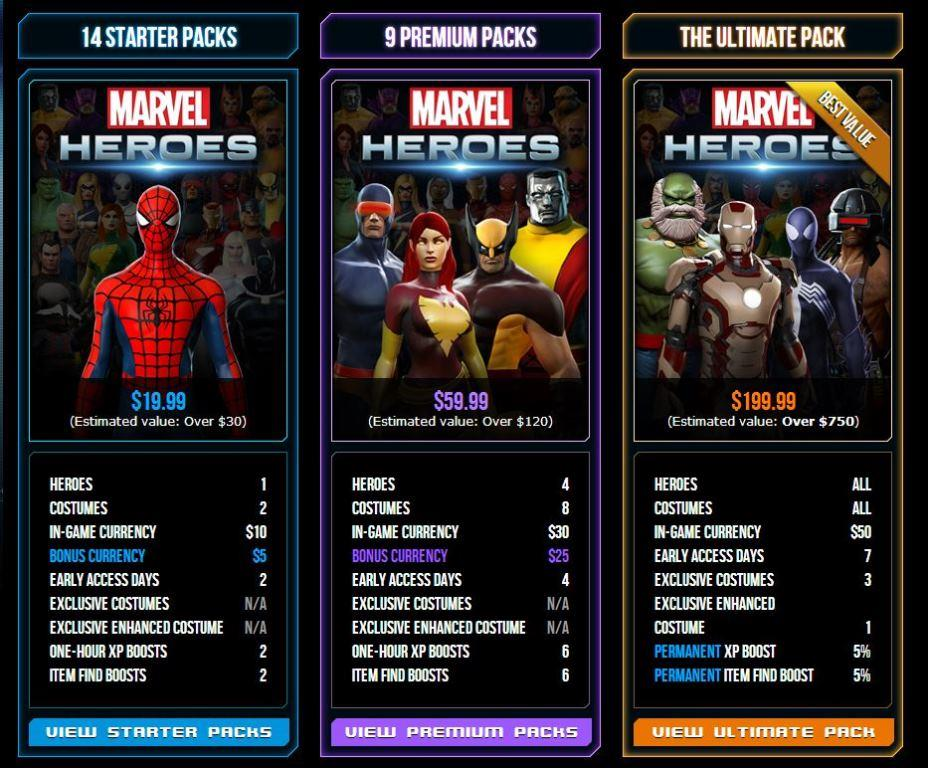 marvel heroes founders pack
